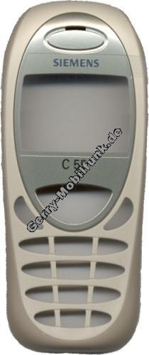 Gehäuseoberschale original Siemens C55 champagne (Cover) mit Displayscheibe