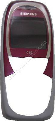 Oberschale original Siemens C62 Kirsch rot (Cover) incl. Displayscheibe