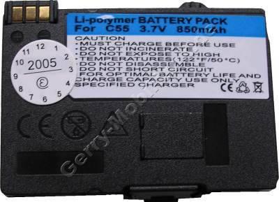 Akku Siemens A65 Li-polymer 850mAh 3,6V 7mm