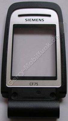 Unterschale Klappe Siemens CF75 original pearl black/schwarz incl. großer Displayscheibe