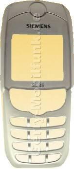 Gehäuseoberteil Siemens SL45 SL42 SL45i SL42i Chrom Velour Original Siemens incl. Lautsprecher und Infrarotabdeckung (IRDA-FEnster) (Gehäuseoberschale) (cover)