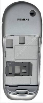 Gehäuseunterteil Siemens S45 silber incl. interner Antenne