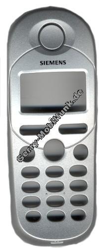 Gehäuseoberteil Siemens C35 Original Silver incl. Lautsprecher (Gehäuseoberschale) (cover) incl. Tastenmatten, Tastatur