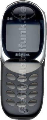 Gehäuseoberteil Siemens S45i galaxy black incl. Displayglas, Lautsprecher, Mikrofon (Gehäuseoberschale) (cover)