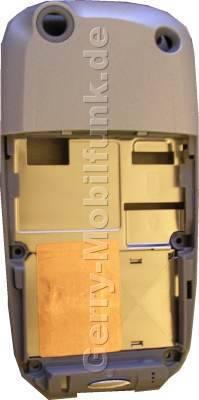 Unterschale Siemens SX1 Ice Blue Original incl. Antenne und Seitentasten (Gehäuseträger, Rückenschale) (cover)