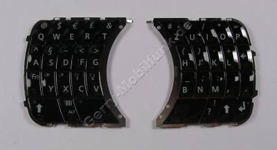 Tastenmatte QWERTZ, Tastatur schwarz Siemens SK65 Original Tastenmatten links  plus  rechts