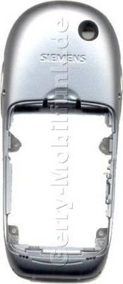 Gehäuseunterteil Siemens S55 Original metal artic ( incl. interne Antenne, beide Seitenschalter und Tastenmatten der Seitenschalter, Infrarotfenster / Irda-Fenster)