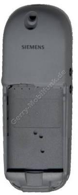 Gehäuseunterteil Siemens S35 Original Silver Edition incl. Schalter und Antenne
