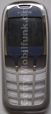 Oberschale blau/grau  Siemens A62 original Cover mit Displayscheibe blue/grey
