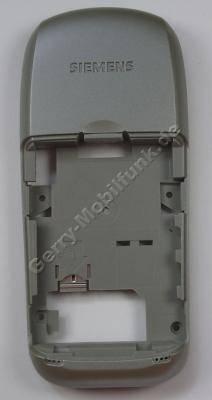 Unterteil, Gehäuseträger Siemens A65 sparkling silver silber Back Cover mit Mikrofon, Vibrationsmotor, interne Antenne,Simkartenhalter