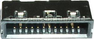 Externer Konnektor für Siemens CFX65. Anschluß zum Laden und Freisprechen (Connector Ladebuchse System-Konnektor)