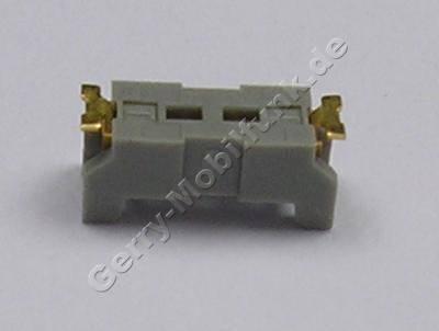Vibrationskontakte Siemens SF65 Original Kontakte Vibrationsmotor, SMD Buchse zum verbinden mit Lautsprechern und Motoren, Außenmaß Lötkontakte 4,5mm, Maß des Steckers 1mm
