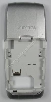 Unterschale Siemens A75 original silber (Gehäuserahmen, Gehäuseträger) Cover mit Vibrationsmotor, Mikrofon, interne Antenne, Simkartenhalter