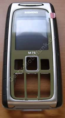 Oberschale Siemens M75 safari grün Original Cover incl. Displayscheibe, Gehäusedichtung, Seitentasten