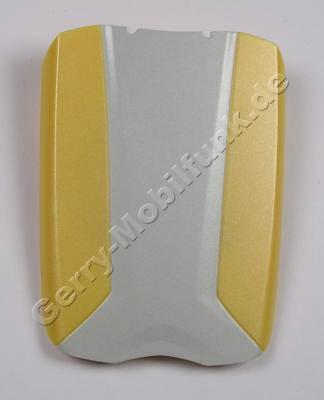 Akkufachdeckel Siemens M55 silber/gelb Original Batteriefachdeckel