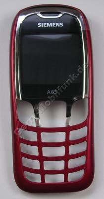 Oberschale Siemens A65 colorado red, rot (Gehäuseoberschale) Cover mit Displayscheibe